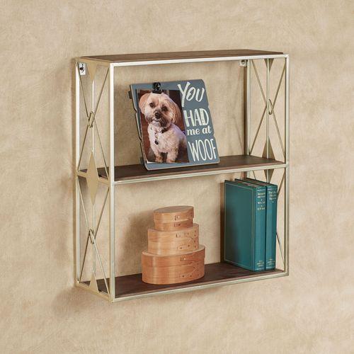 Nolan Two Tier Wall Shelf Platinum