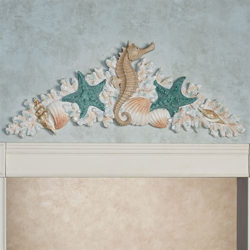 Coral Medley Coastal Decorative Wall Or Door Topper