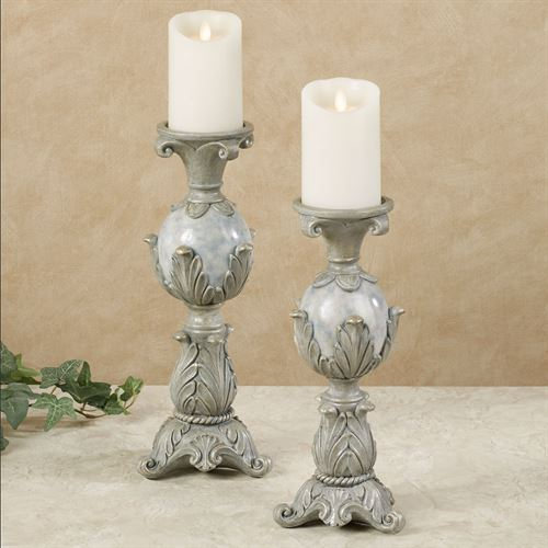 Lionna Candleholders Blue Set of Two