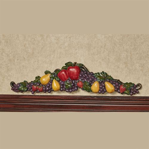 Tuscan Fruit Decorative Topper Multi Jewel