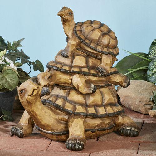 Turtle Family Sculpture Multi Earth