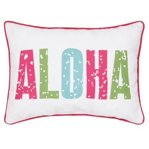 Isla Tropics Piped Pillow Multi Bright Rectangle
