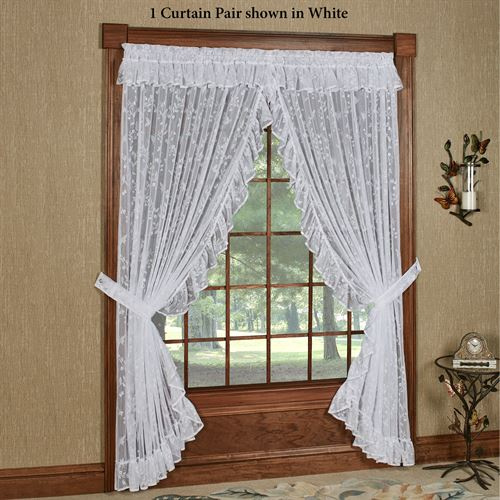 Butterfly Charm Lace Priscilla Curtain Pair