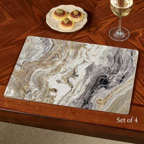 Quartz Hardboard Placemats Multi Cool Set of Four