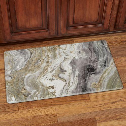 Quartz Marbled Design Memory Foam Cushioned Floor Mat