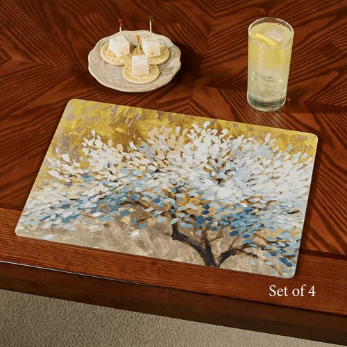 A Thousand Lifetimes Tree Hardboard Placemats Multi Warm Set of Four