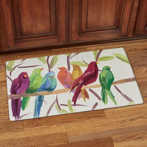 Flock Together Cushioned Mat Multi Warm 30 x 18