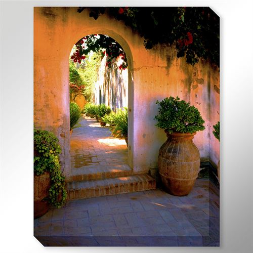 Arch passageway canvas wall art multi cool