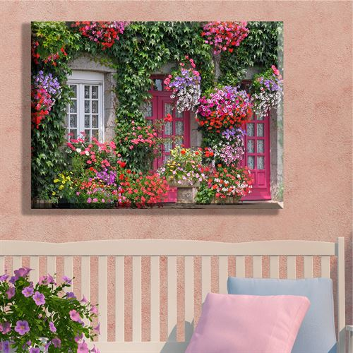 Brittany Beauty Floral Indoor Outdoor Canvas Wall Art