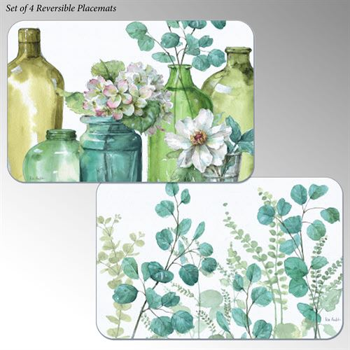 Greenery Placemats Multi Cool Set of Four