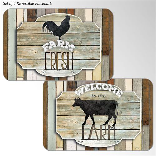Farmhouse Placemats Multi Earth Set of Four