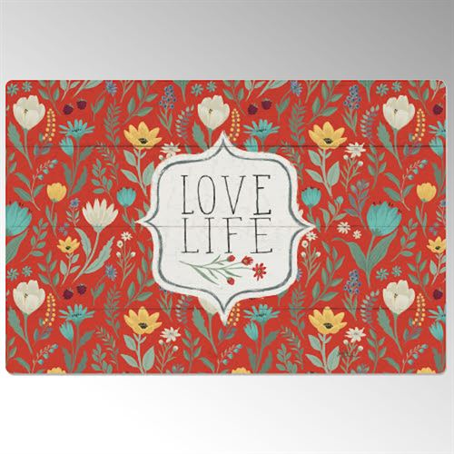 Blooming Thoughts Cushioned Floor Mat Multi Warm 30 x 20