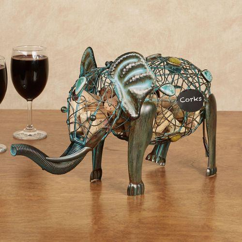 Elephant Wine Cork Caddy Patina