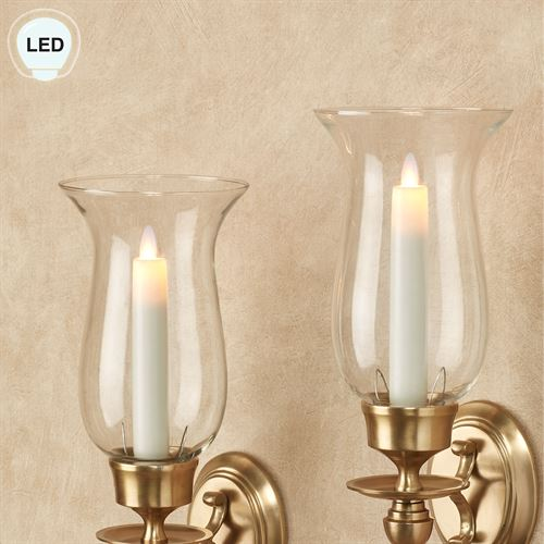 Alexa Flameless Taper Candles Ivory Small Set of 2