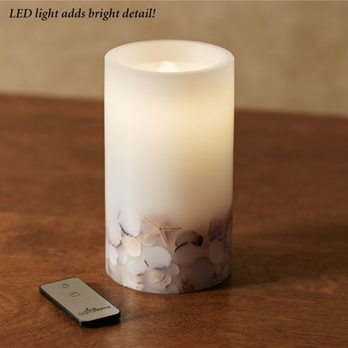 Seashell LED Flameless Candle Fountain White