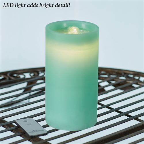 Luna LED Flameless Candle Fountain Teal