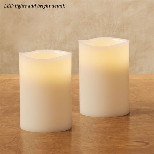 Nessa Scented LED Flameless Candles Ivory Set of Two