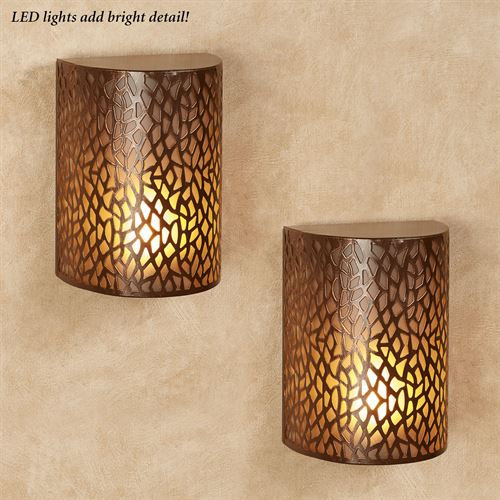 Cadence LED Wall Sconces Copper Set of Two