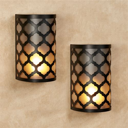 Haven LED Wall Sconces Black Set of Two