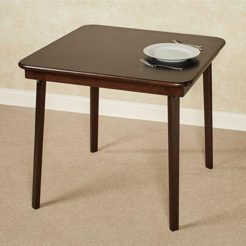 Straight Edge Folding Table Espresso