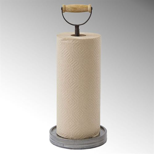 Galvanized Tin Paper Towel Holder Silver
