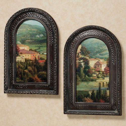 Italian Overlook Wall Art Set  Set of Two