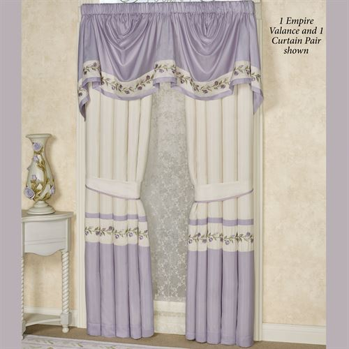 Lavender Rose Empire Valance 110 x 28