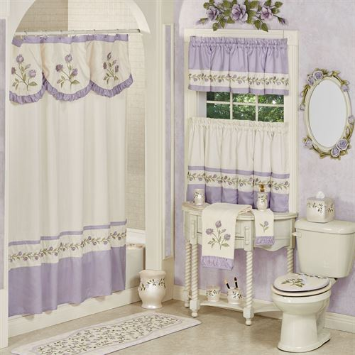 Lavender Rose Shower Curtain 72 x 72