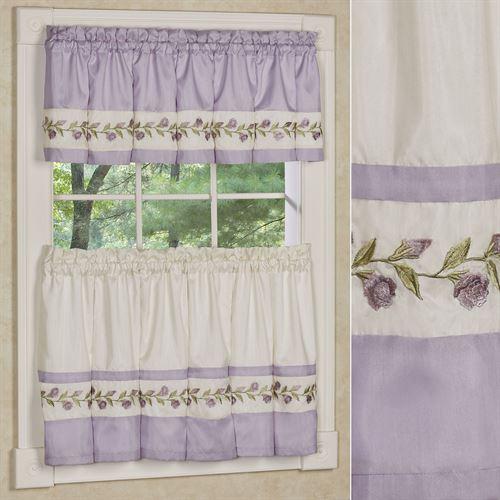 Lavender Rose Tier and Valance Set