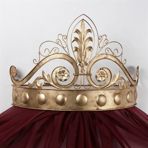 Lamoreaux Wall Teester Bed Crown Antique Gold