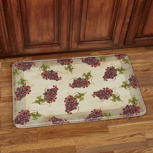 Catawba Grapes Cushioned Rectangle Mat Multi Warm 35 x 22