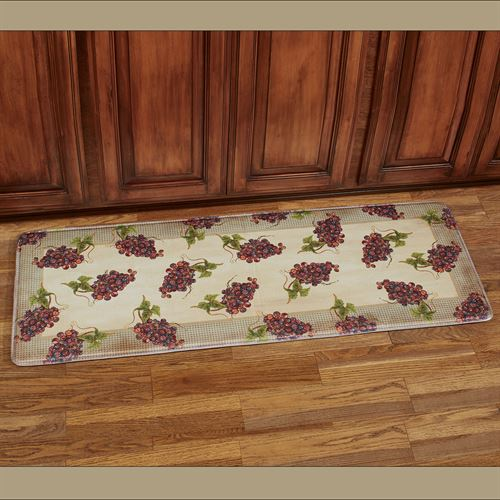 Catawba Grapes Cushioned Runner Mat Multi Warm 55 x 20