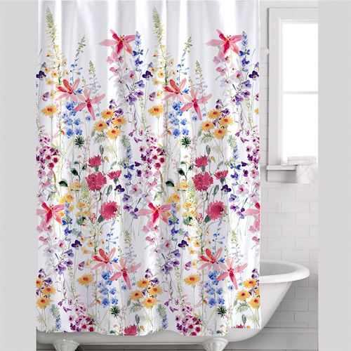 Julie Wildflowers Floral Shower Curtain