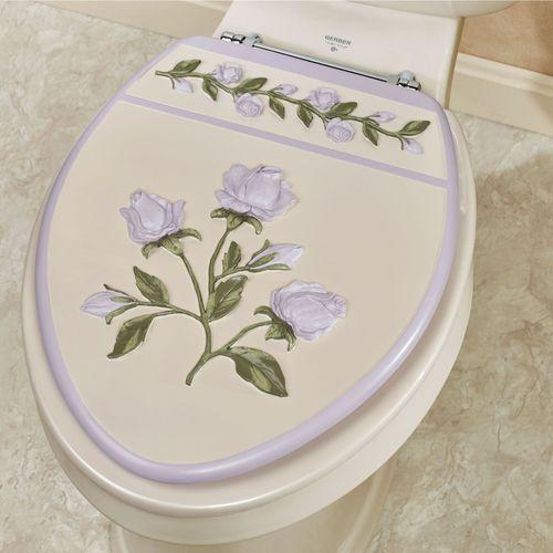 Enchanted Rose Elongated Toilet Seat Lavender
