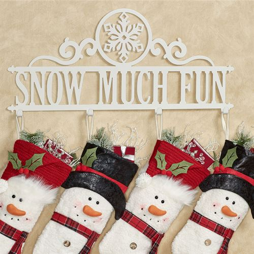 Snow Much Fun Wall Hook Rack Ivory Snowflake