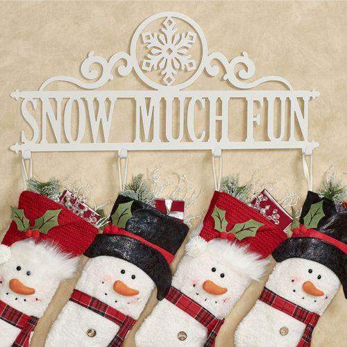 Snow Much Fun Wall Hook Rack Ivory Snowflake