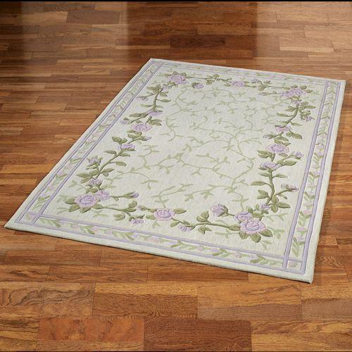 Lavender Bloom Rectangle Rug