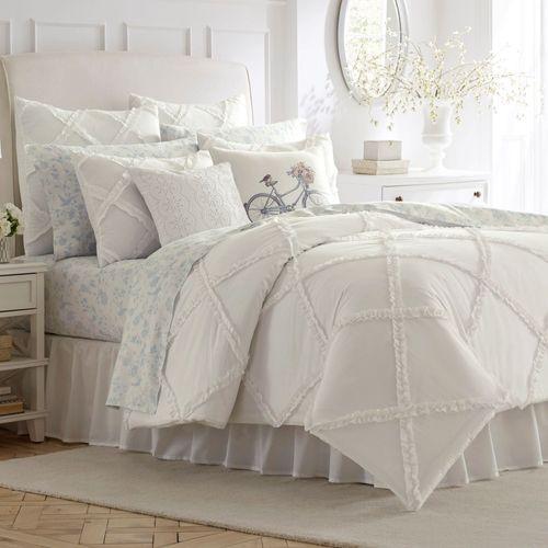 Adelina Mini Comforter Set Eggshell