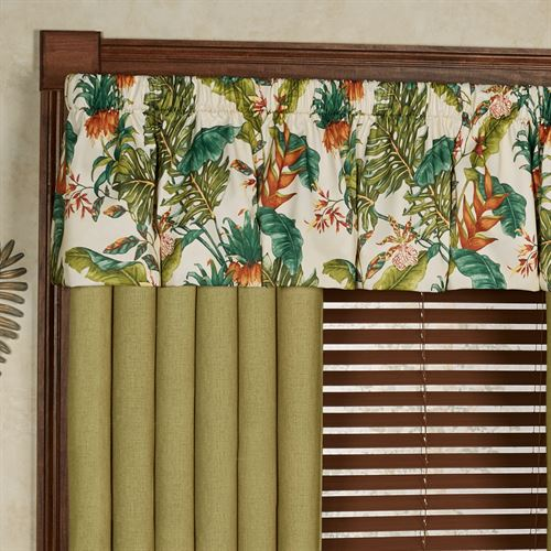 Jamaica Wide Tailored Curtain Pair Moss 100 x 84