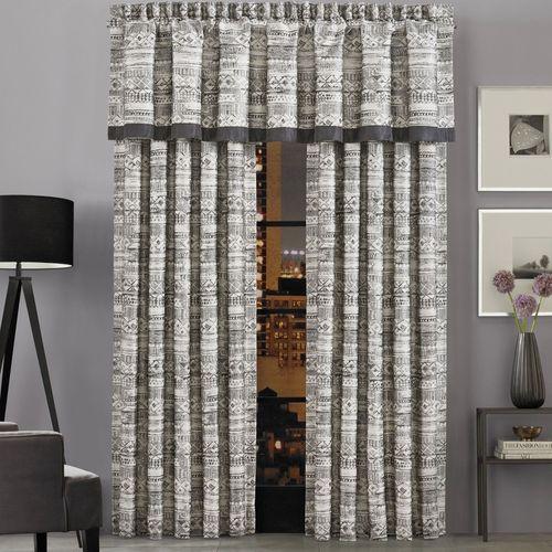 Brandon Wide Tailored Curtain Pair Silver 100 x 84
