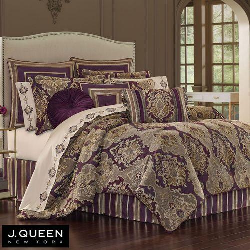 Amethyst Comforter Set Plum