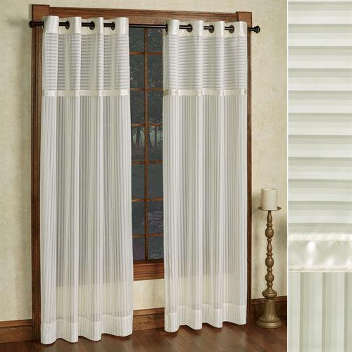 Nimbus Stripe II Sheer Grommet Curtain Panel