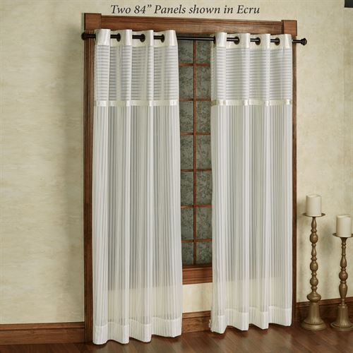 Nimbus Stripe II Sheer Grommet Curtain Panel