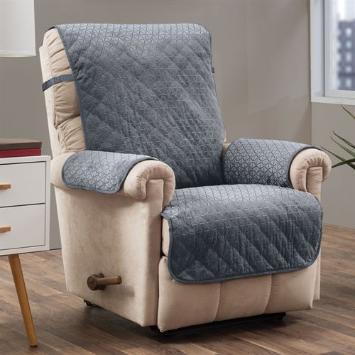 Angier Secure Fit Furniture Protector Charcoal Recliner/Wing Chair
