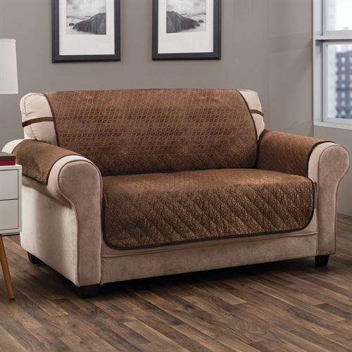 Angier Secure Fit Furniture Protector Cocoa Recliner/Wing Chair