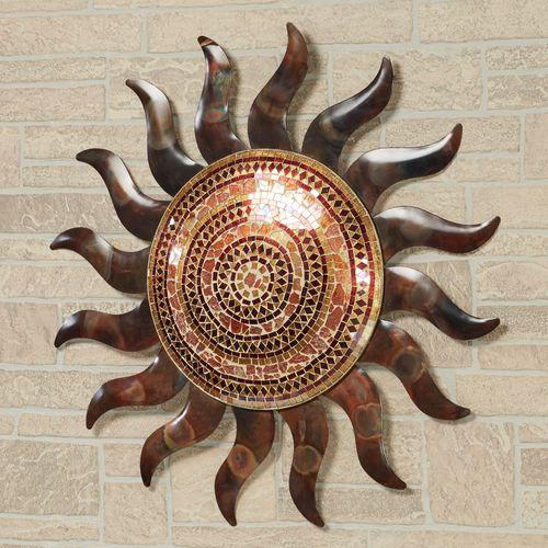 Mosaic Sun Wall Art Copper