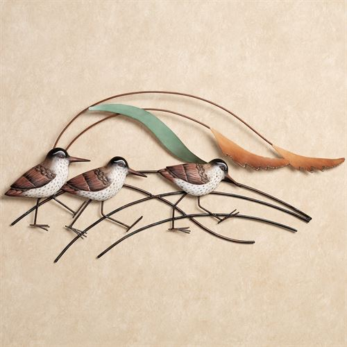 Shorebird Beach Wall Sculpture Brown