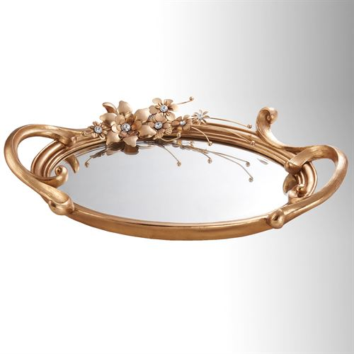 Karina Mirrored Vanity Tray Bronze