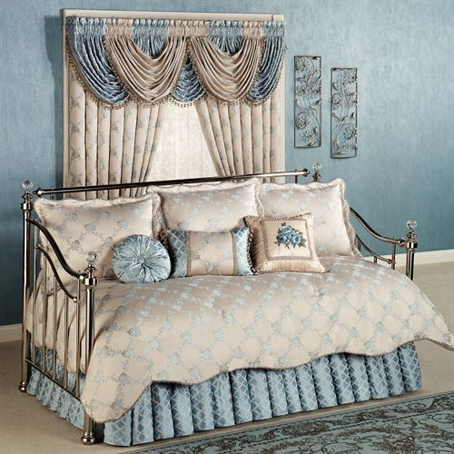 Blooming Treillage Daybed Set Periwinkle Daybed