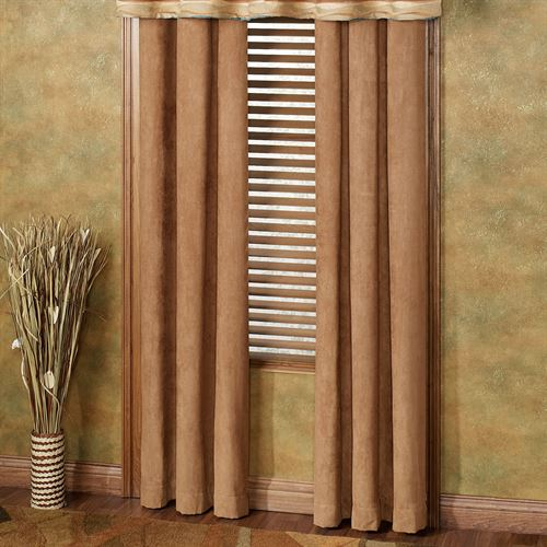 Oasis Grommet Curtain Pair Saddle Brown 84 x 84